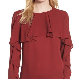 Trouve ruffle top from Nordstrom. Worn once!